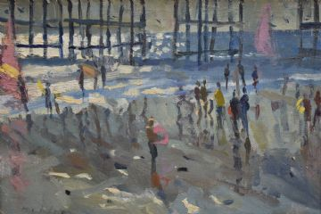 Bo Hilton Original Oil Painting Brighton Pier East Sussex